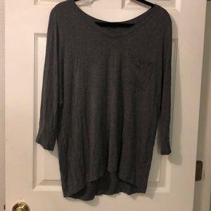 Charcoal Grey 3/4 Sleeve Top